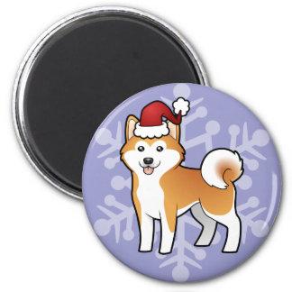 Navidad Akita Inu/Shiba Inu Imán Para Frigorifico