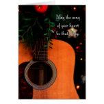 Navidad alegre canción, guitarra acústica del día  felicitación