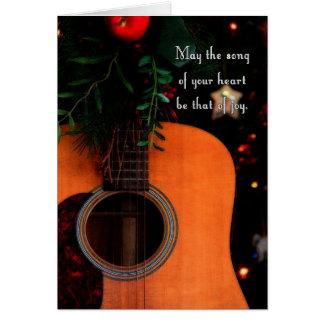 Navidad alegre canción guitarra acústica del día felicitación