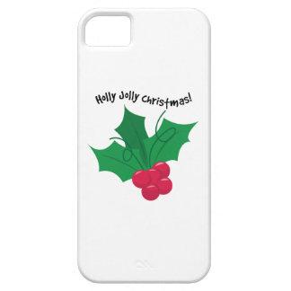 ¡Navidad alegre del acebo! iPhone 5 Fundas