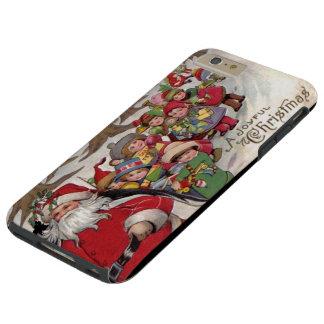 Navidad alegre del vintage funda para iPhone 6 plus tough