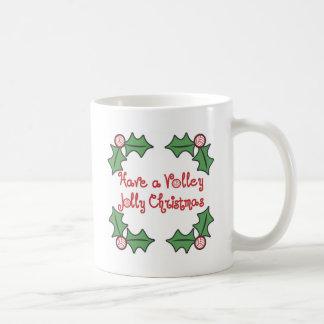 Navidad alegre del voleo de VolleyChick Taza De Café
