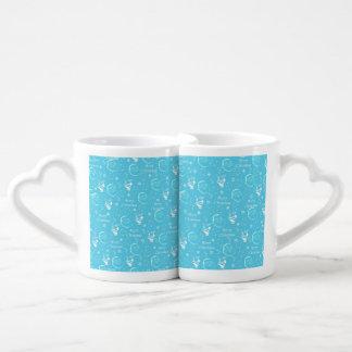 Navidad alegre festivo de un padre tazas para parejas