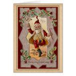 Navidad alegre Santa del vintage que baila una Tarjeta De Felicitación