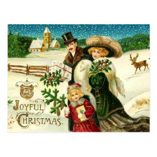 Navidad alegre tarjeta postal