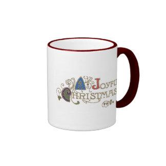 Navidad alegre taza de dos colores