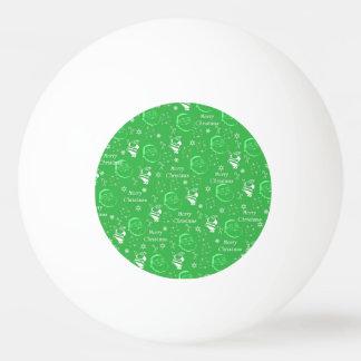 Navidad alegre verde festivo del padre pelota de ping pong