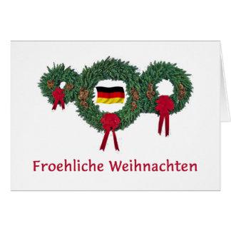 Navidad alemán 2 tarjetón