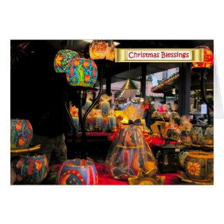 Navidad alemán, carenados festivos tarjeta de felicitación