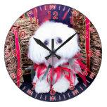 Navidad - algodón de Tulear - acogedor Relojes