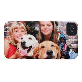 Navidad - aliado de Labrador - Wrigley de oro iPhone 4 Case-Mate Coberturas