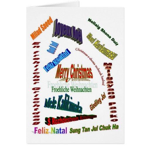 Navidad alrededor del mundo tarjeta de felicitación