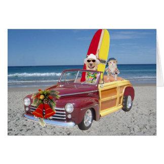 Navidad amarillo divertido de la persona que tarjeta de felicitación