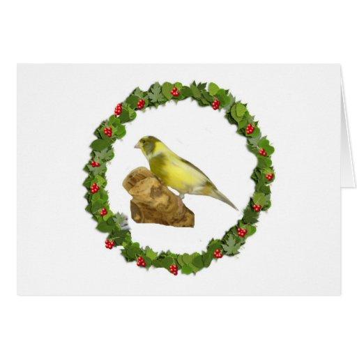 Navidad amarillo tarjeta de felicitación