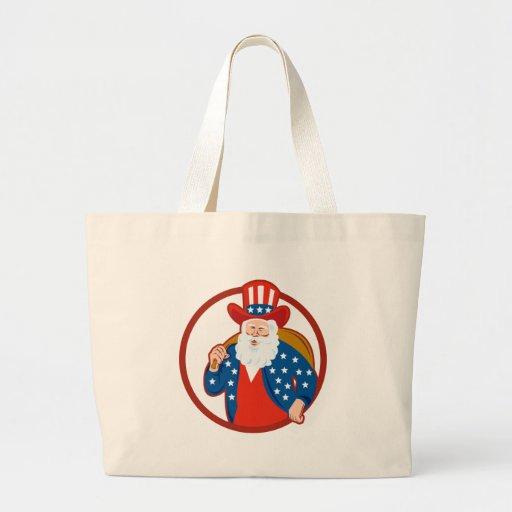 Navidad americano Papá Noel del padre Bolsa Tela Grande
