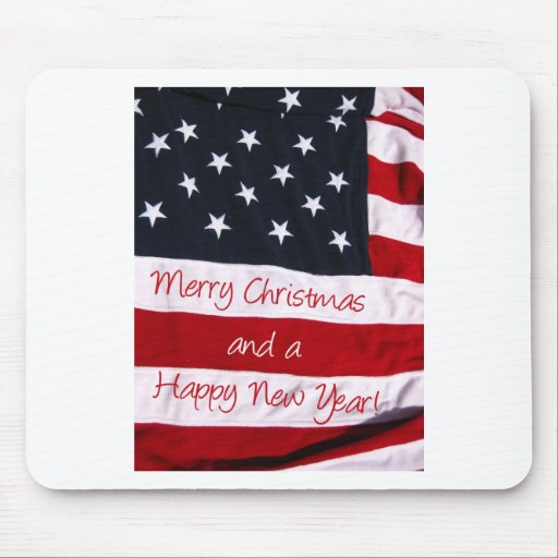 Navidad americano que saluda alfombrilla de ratones