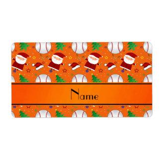 Navidad anaranjado conocido personalizado del etiquetas de envío