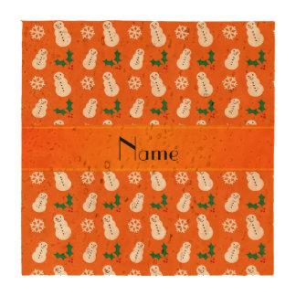 Navidad anaranjado conocido personalizado del posavasos