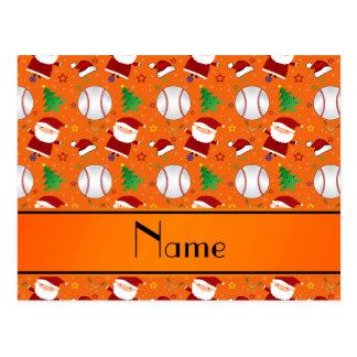 Navidad anaranjado conocido personalizado del tarjetas postales