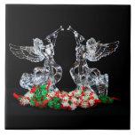 Navidad angelical azulejos cerámicos