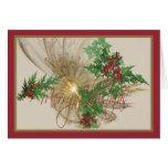 Navidad angelical tarjeta de felicitación
