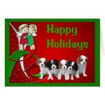 Navidad Angels2 GR del perro de aguas de rey Charl Tarjeta