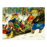 Navidad animal - conseguir el registro de Yule Tarjetas Postales