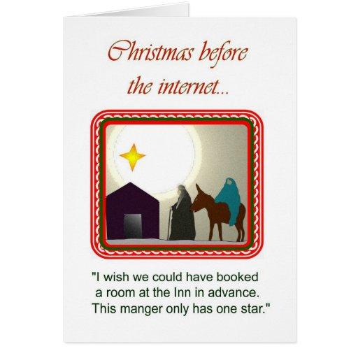 Navidad antes del Internet… Tarjetón