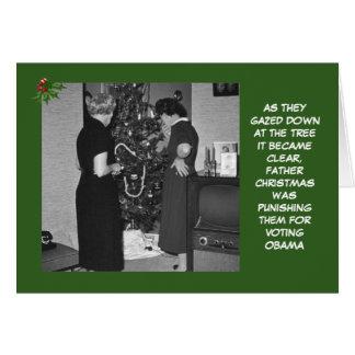 Navidad anti de Obama Tarjeta