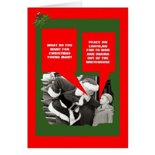 Navidad anti divertido de Obama Felicitacion