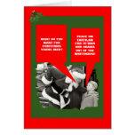 Navidad anti divertido de Obama Tarjeta De Felicitación
