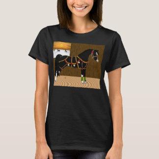 Navidad árabe negro del caballo playera