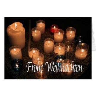 Navidad ardiente   de las velas de Frohe Tarjeta De Felicitación