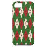 Navidad Argyle iPhone 5 Case-Mate Funda