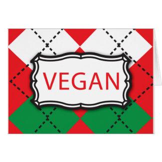 Navidad Argyle - vegano Tarjeton