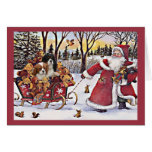 Navidad arrogante Santa del perro de aguas de rey  Tarjeta