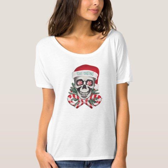 Navidad asustadizo playera
