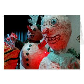 Navidad asustadizo tarjeta de felicitación