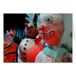 Navidad asustadizo tarjeton
