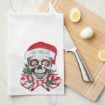 Navidad asustadizo toallas de cocina