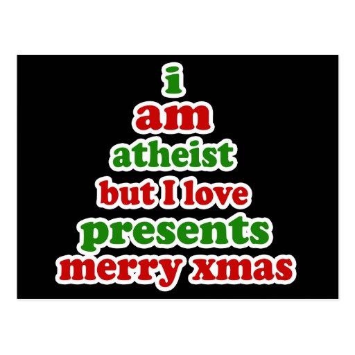 Navidad ateo tarjetas postales