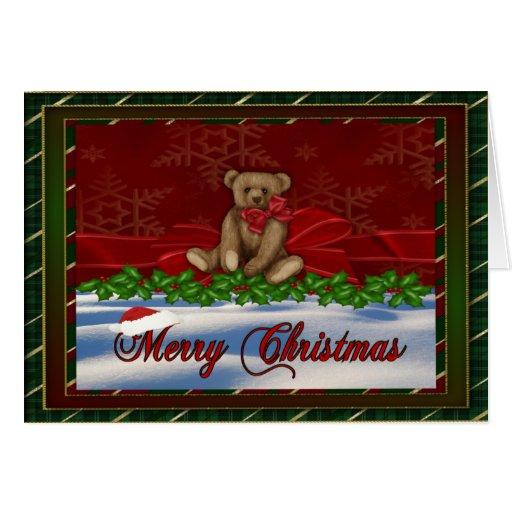Navidad atractivo tarjeta de felicitación