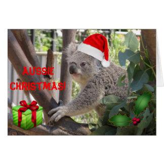 Navidad australiano a usted tarjeta de felicitació