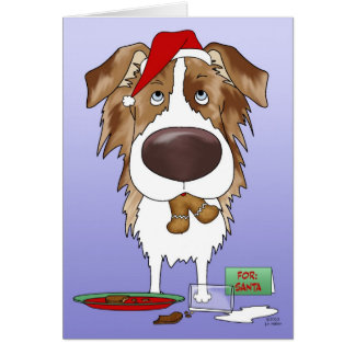 Navidad australiano del pastor tarjeta de felicitación