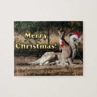 Navidad australiano KangaROOS del estilo Puzzle