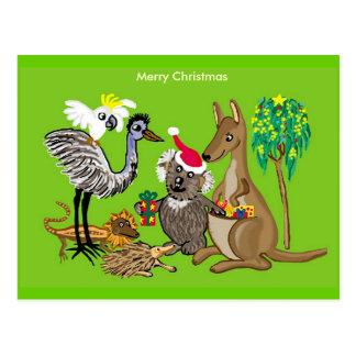 Navidad australiano postales
