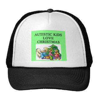 Navidad autístico del amor de los niños gorras