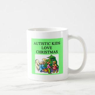 Navidad autístico del amor de los niños tazas