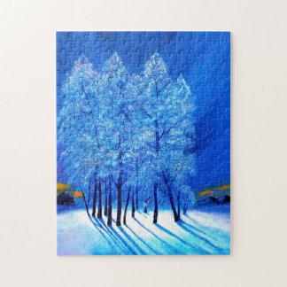 Navidad azul # 1 puzzles