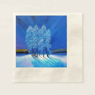 Navidad azul # 1 servilleta de papel